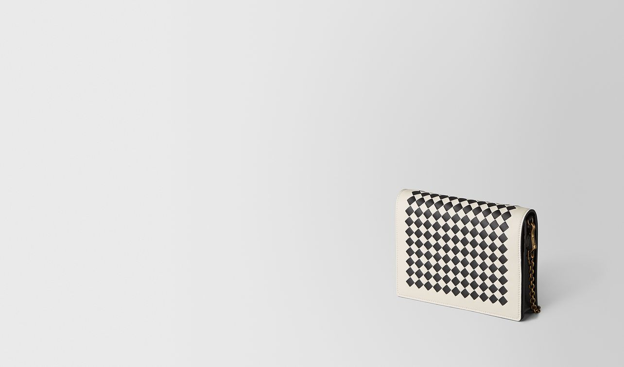 mist/nero intrecciato checker chain wallet landing