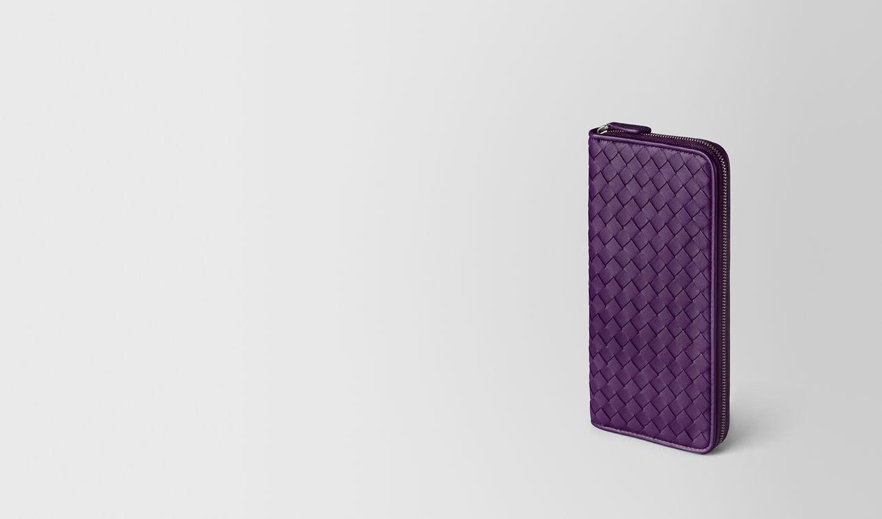 monalisa intrecciato nappa zip around wallet landing
