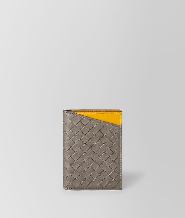 BOTTEGA VENETA STEEL/SUNSET INTRECCIATO NAPPA CARD CASE Card Case or Coin Purse Man fp