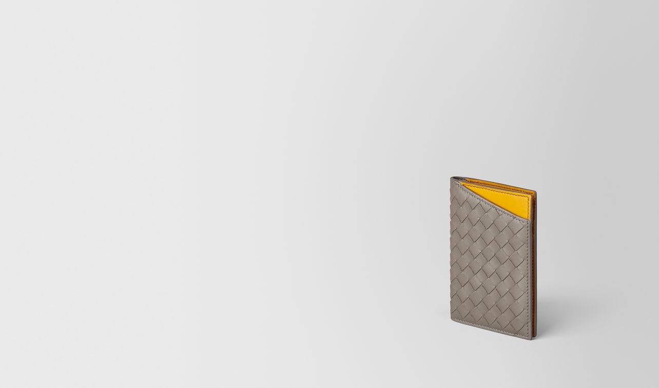 steel/sunset intrecciato nappa card case landing