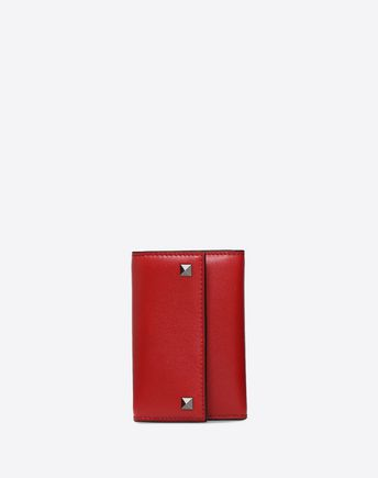 VALENTINO GARAVANI UOMO CARD CASE U Rockstud Badge Holder f