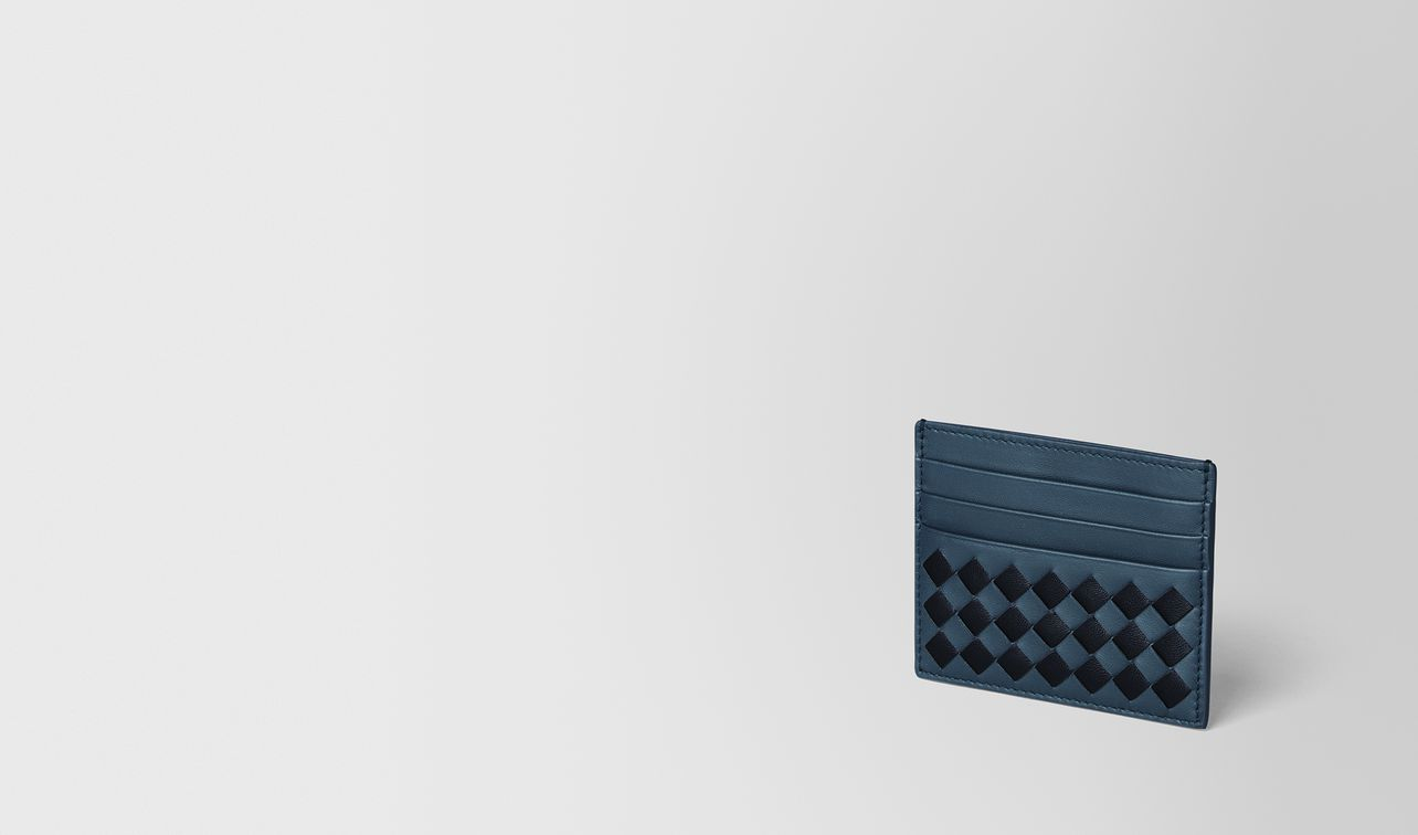 denim/tourmaline checker nappa card case landing