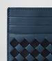 BOTTEGA VENETA DENIM/TOURMALINE CHECKER NAPPA CARD CASE Card Case or Coin Purse Man dp