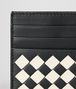 BOTTEGA VENETA NERO/MIST CHECKER NAPPA CARD CASE Card Case or Coin Purse Man dp
