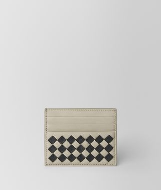 CEMENT/NERO CHECKER NAPPA CARD CASE