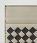 BOTTEGA VENETA CEMENT/NERO CHECKER NAPPA CARD CASE Card Case or Coin Purse Man dp
