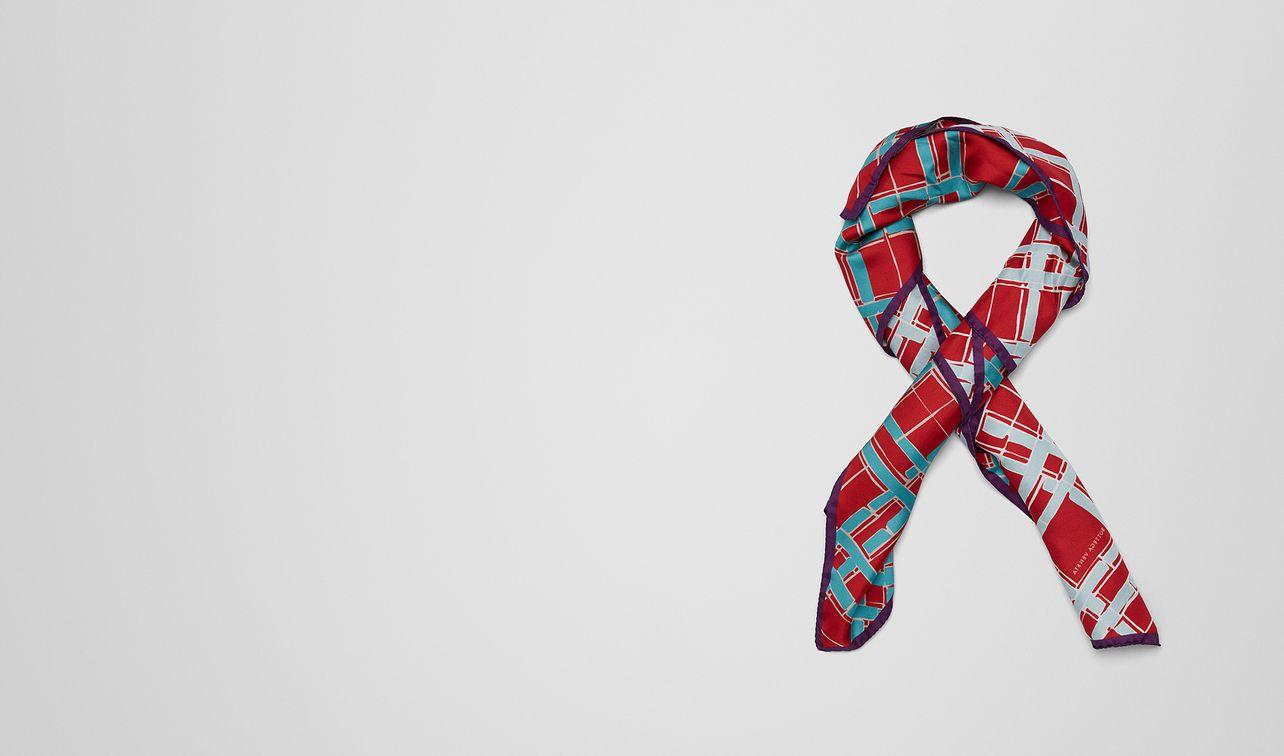 foulard en soie sky blue landing