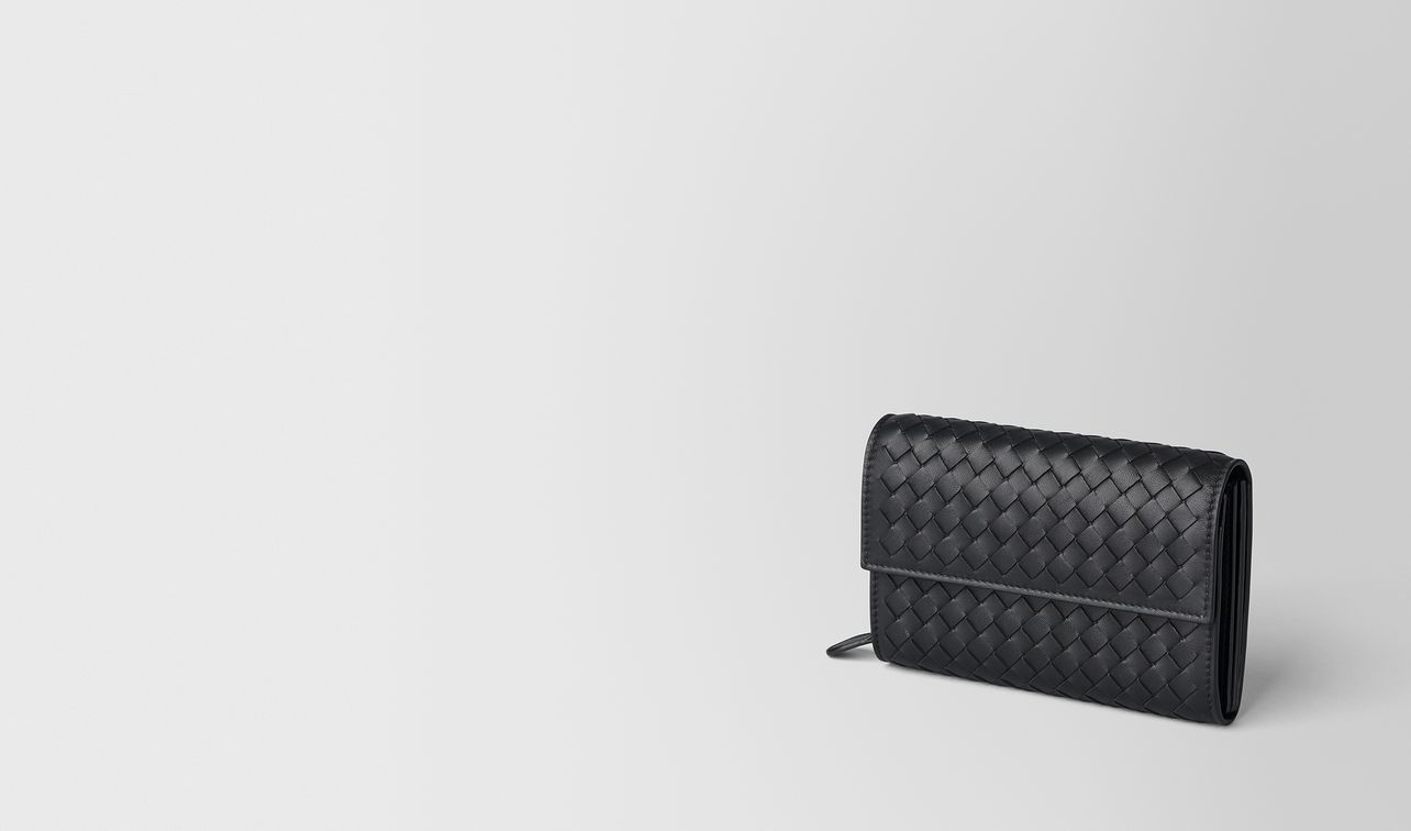 nero intrecciato nappa wallet landing