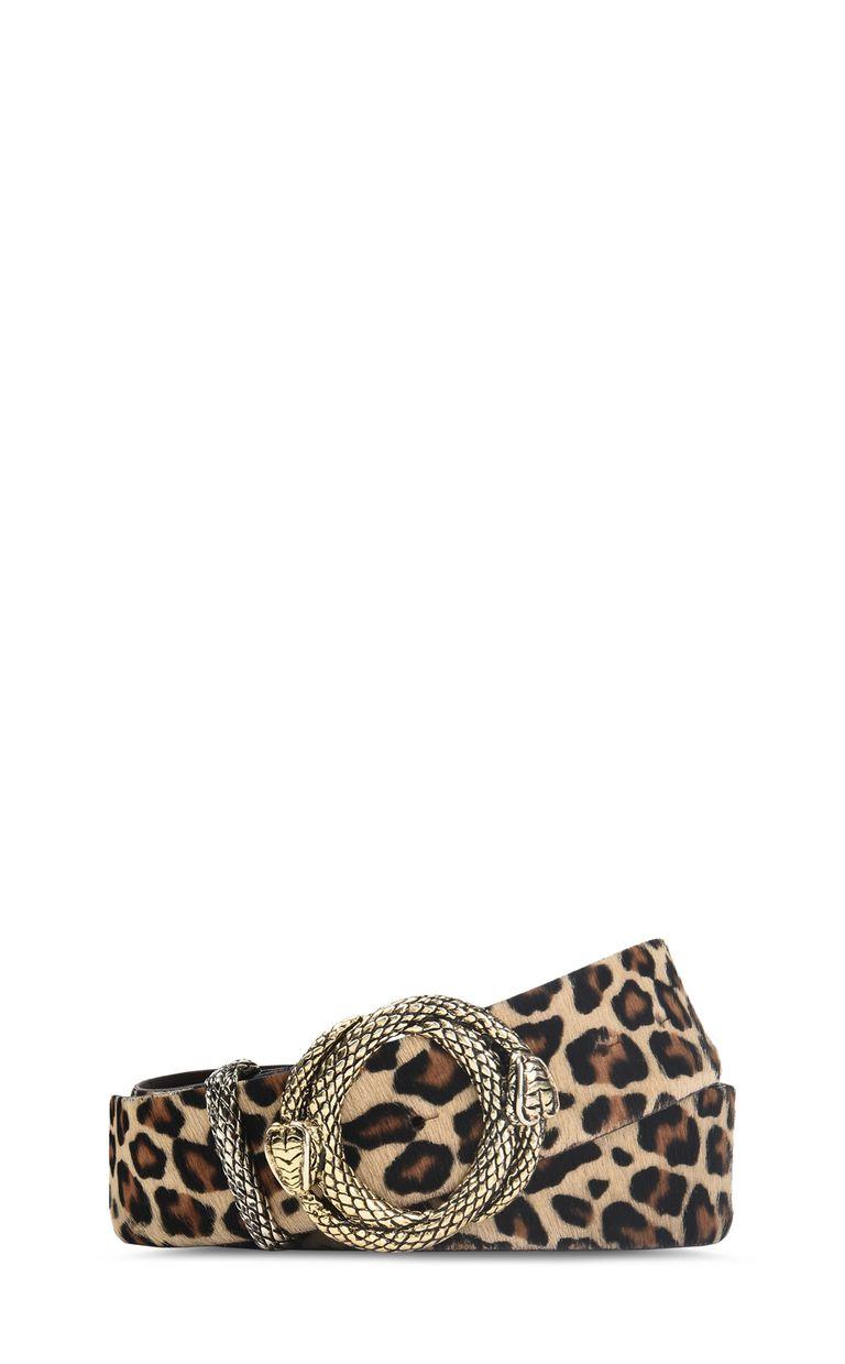 JUST CAVALLI Leopard-print belt with buckle Belt Woman f