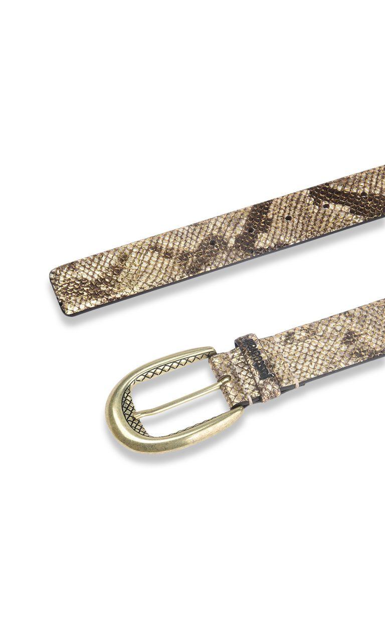 JUST CAVALLI Python-print belt with buckle Belt Woman e