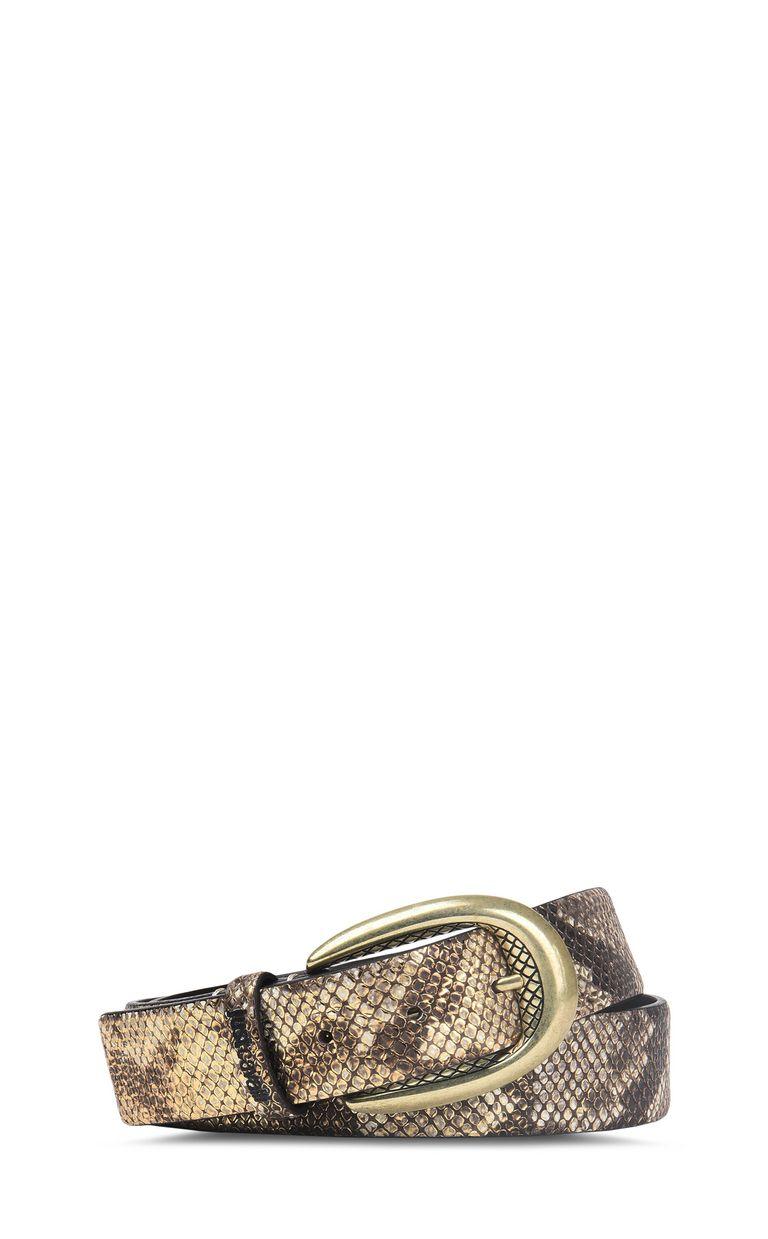JUST CAVALLI Python-print belt with buckle Belt Woman f