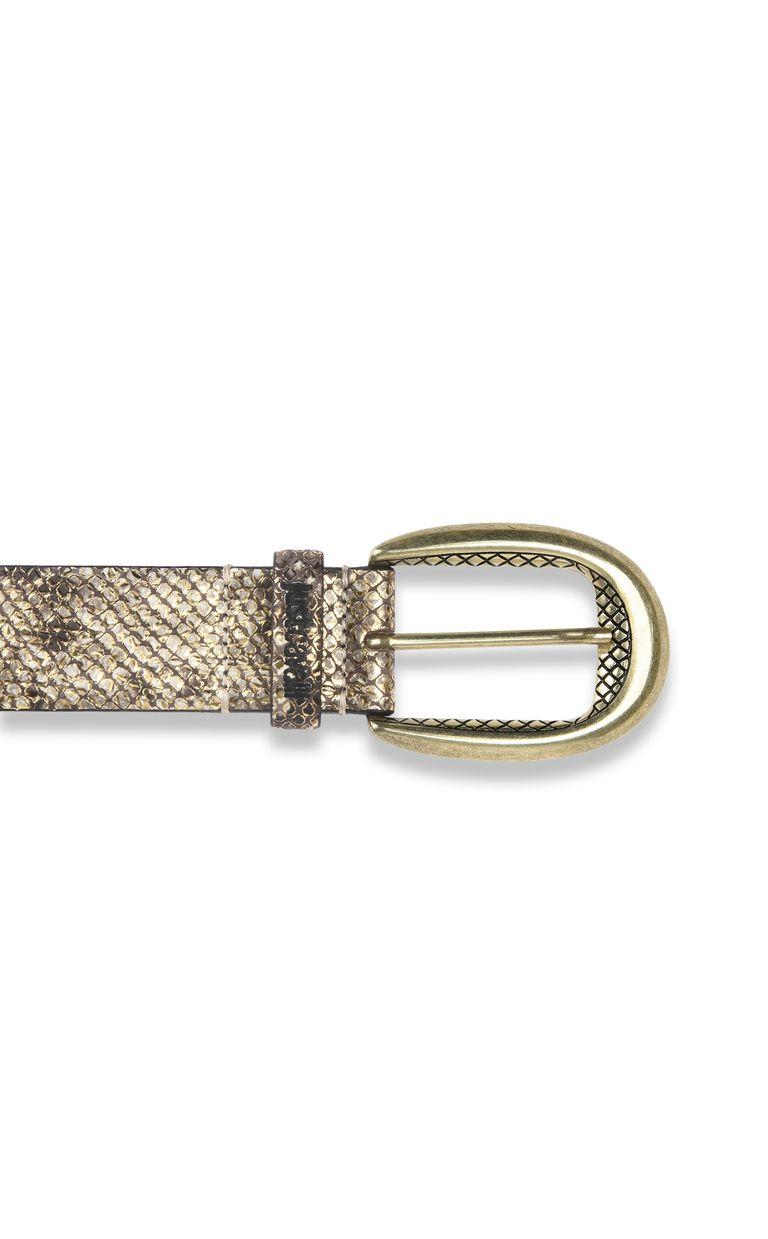 JUST CAVALLI Python-print belt with buckle Belt Woman r