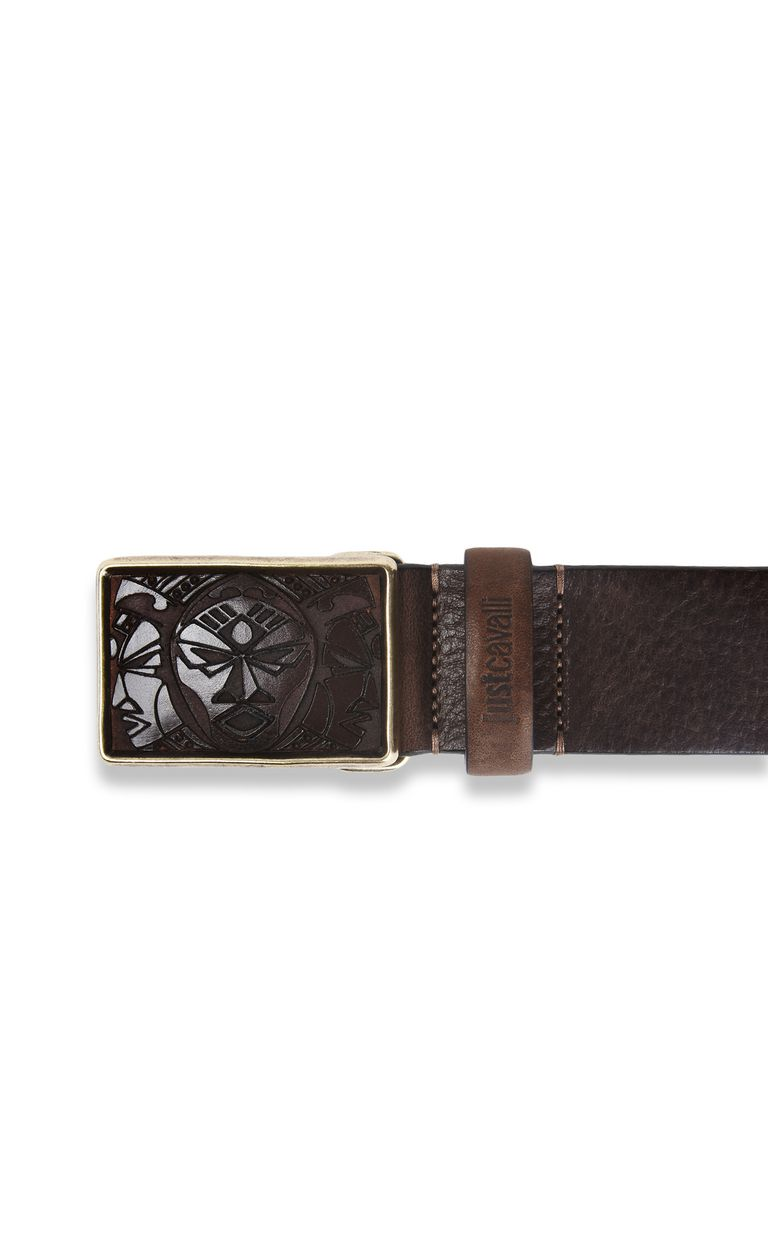 JUST CAVALLI Tribal buckle belt Belt Man r