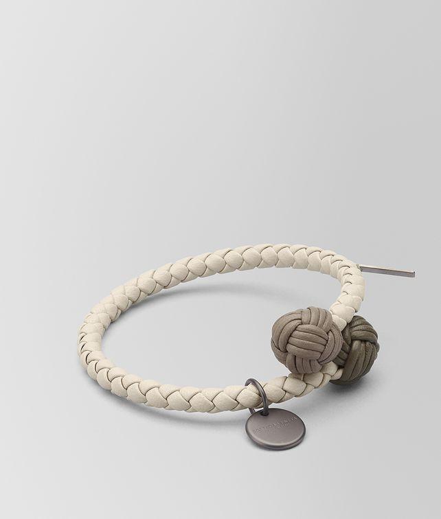 BOTTEGA VENETA BRACELET MULTICOLOR EN CUIR NAPPA INTRECCIATO MIST Porte-clé ou Bracelet E fp