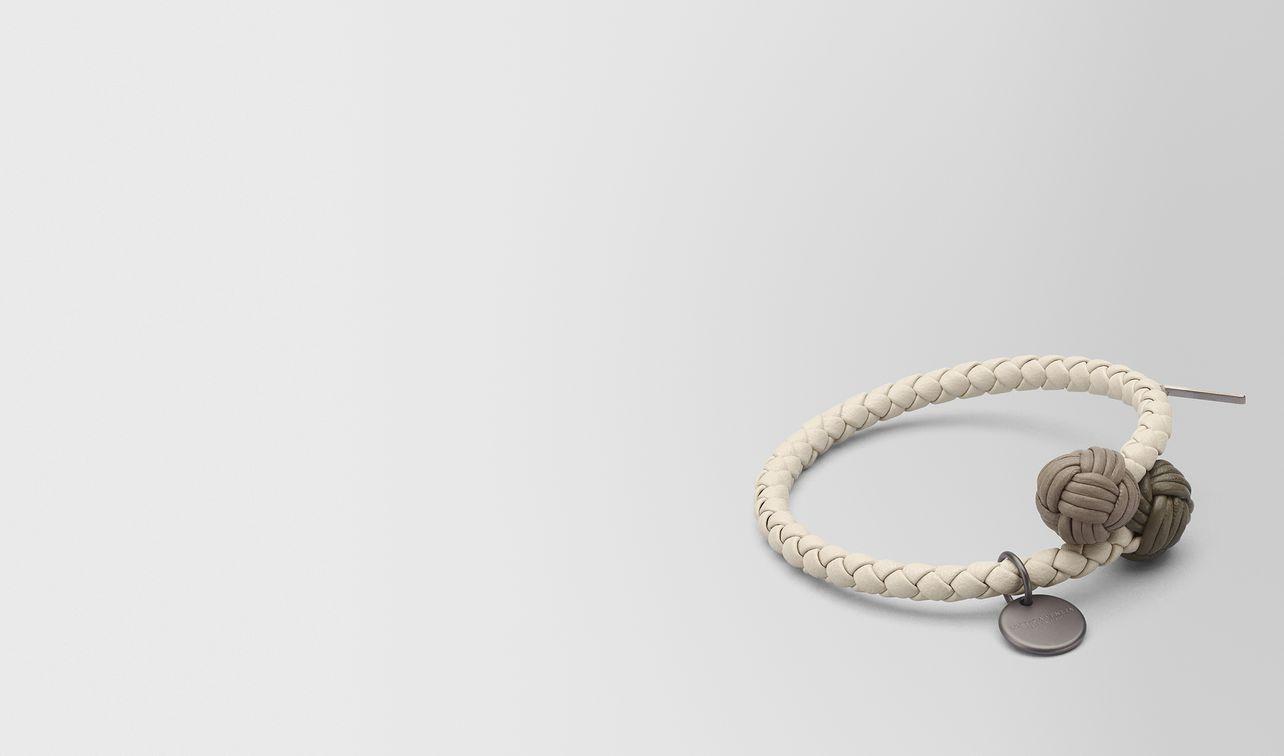 bracelet multicolor en cuir nappa intrecciato mist landing