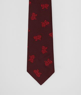 AMARANTH/RED SILK TIE