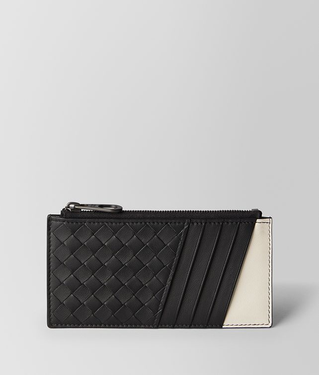 BOTTEGA VENETA NERO/MIST INTRECCIATO NAPPA CARD CASE Card Case [*** pickupInStoreShippingNotGuaranteed_info ***] fp