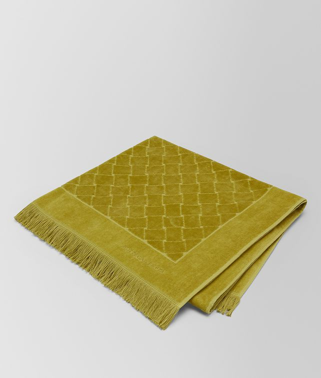 BOTTEGA VENETA OLIVE COTTON BEACH TOWEL Scarf [*** pickupInStoreShippingNotGuaranteed_info ***] fp