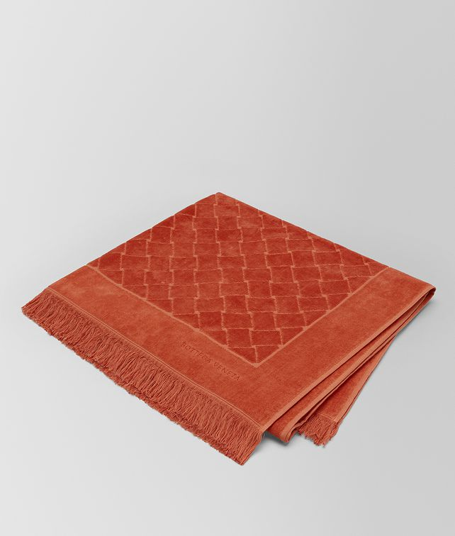 BOTTEGA VENETA CORAL COTTON BEACH TOWEL Scarf [*** pickupInStoreShippingNotGuaranteed_info ***] fp