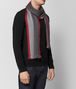 anthracite/red wool scarf Right Side Portrait