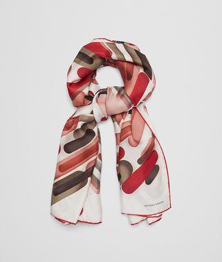 红色真丝围巾
