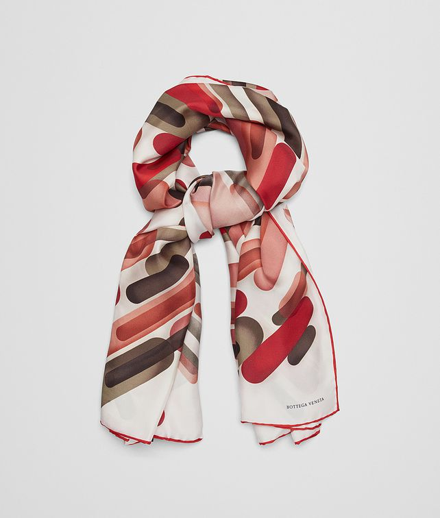BOTTEGA VENETA RED SILK FOULARD Scarf Woman fp