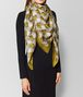 BOTTEGA VENETA GREEN SILK FOULARD Scarf Woman rp