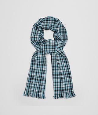 绿松色羊毛围巾