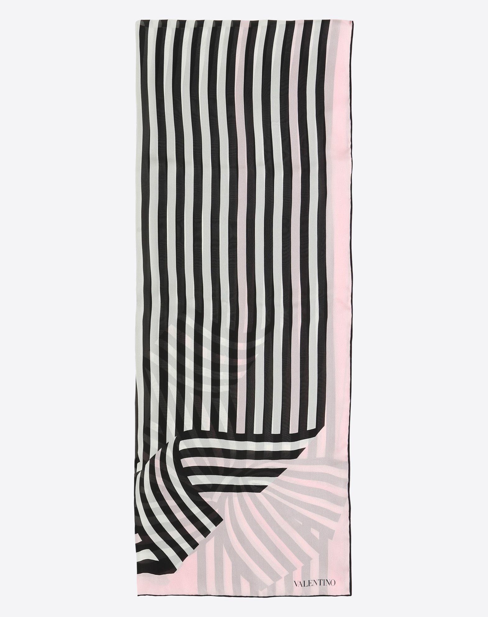 VALENTINO SETA Fular 70 x 180 cm de seda Estola D f