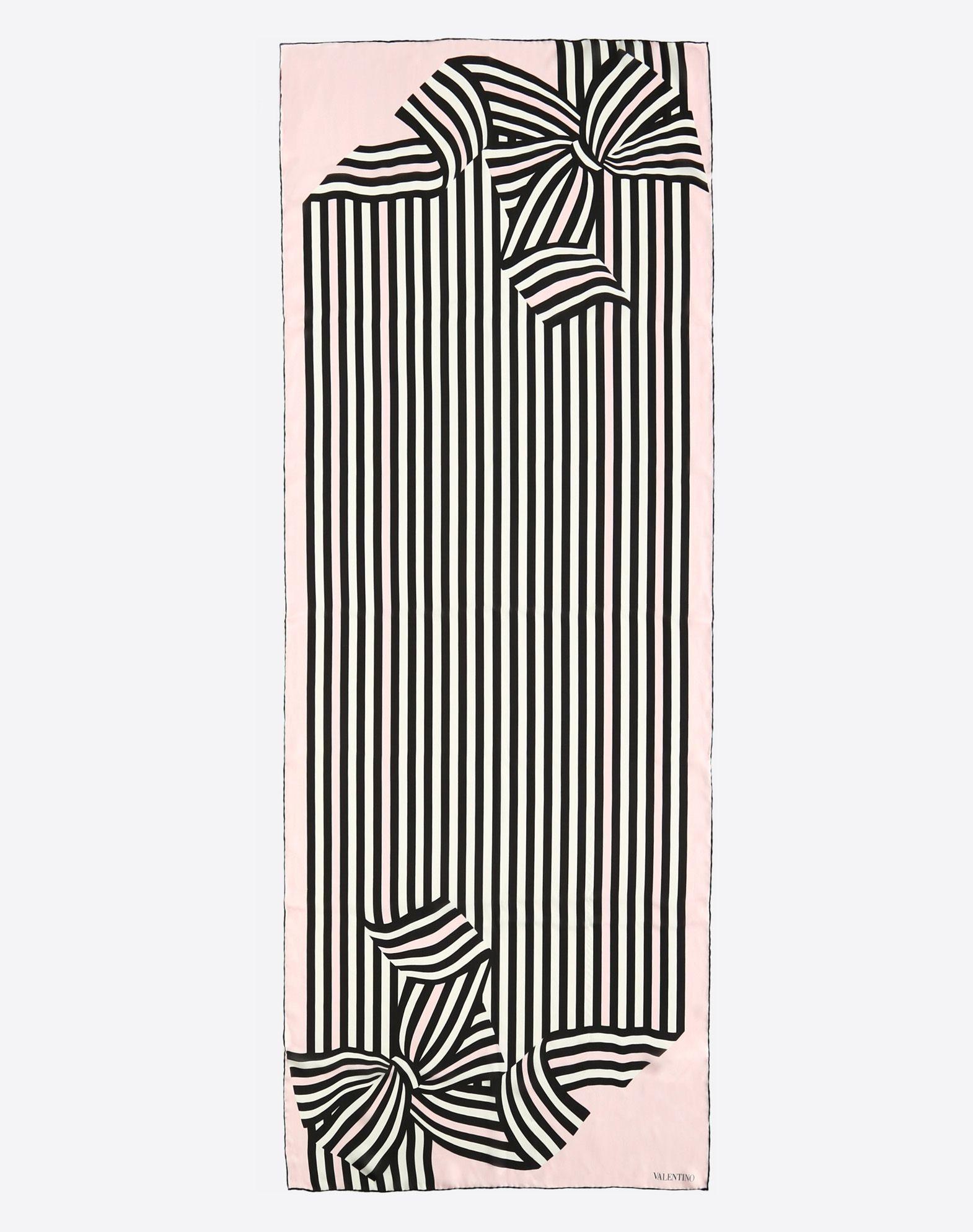 VALENTINO SETA Fular 70 x 180 cm de seda Estola D r