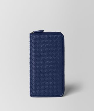 ATLANTIC INTRECCIATO NAPPA ZIP AROUND WALLET