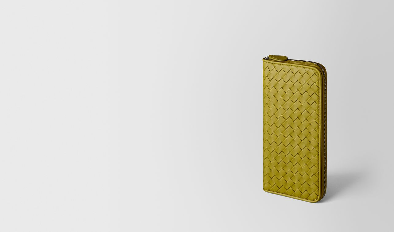 chamomile intrecciato nappa zip around wallet landing