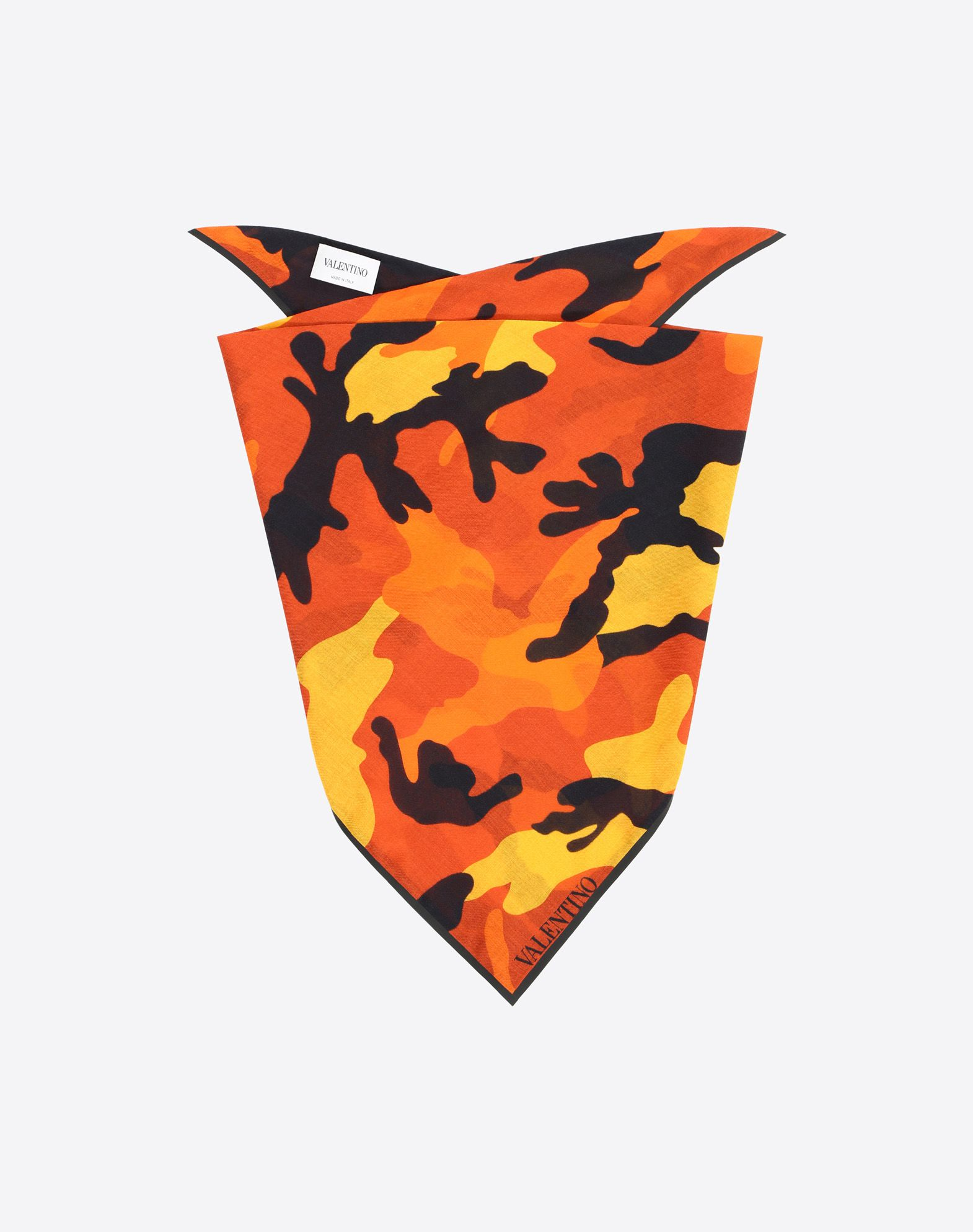 VALENTINO SETA 70x70 cm bandeau scarf Foulard U f