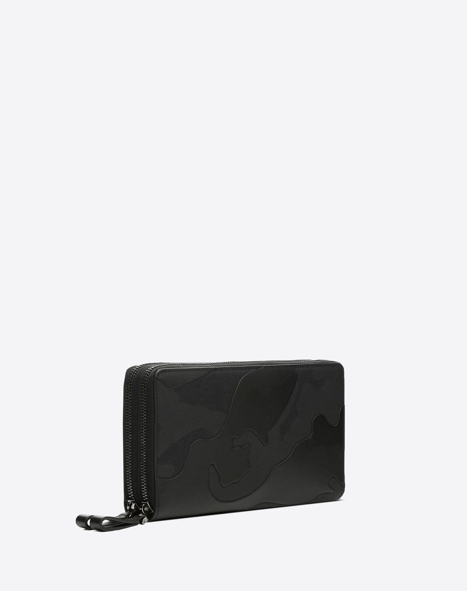 VALENTINO GARAVANI UOMO Camouflage Noir wallet ZIP AROUND WALLETS U r