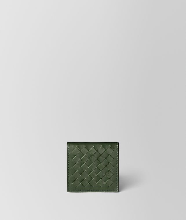 BOTTEGA VENETA FOREST/FERN INTRECCIATO NAPPA COIN PURSE Card Case or Coin Purse Man fp