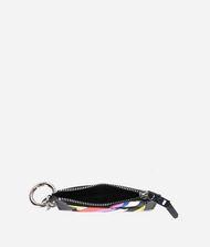 KARL LAGERFELD K/Stripes Leather Keychain Coin Purse 9_f