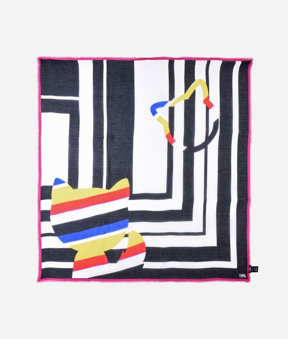 KARL LAGERFELD K/Stripes Modal Silk Scarf Scarf Woman f
