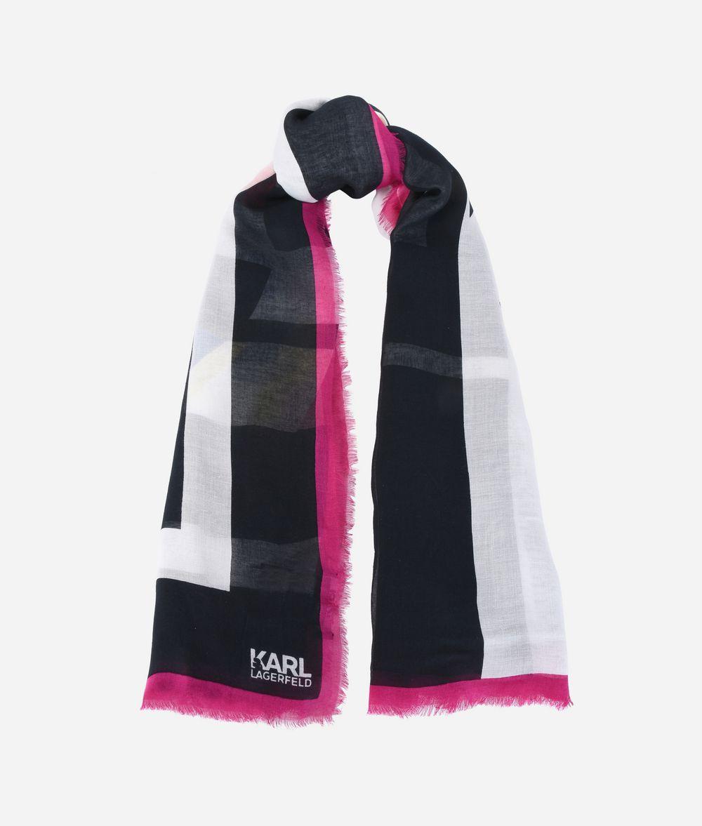 KARL LAGERFELD K/Stripes Modal Silk Scarf Scarf Woman r