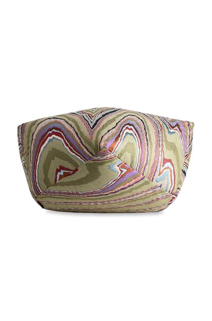 MISSONI HOME VALLAURIS DIAMANTE POUF Green E - Back