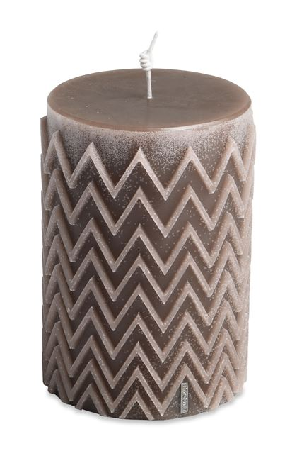 MISSONI HOME CHEVRON  CANDLE Khaki E - Front