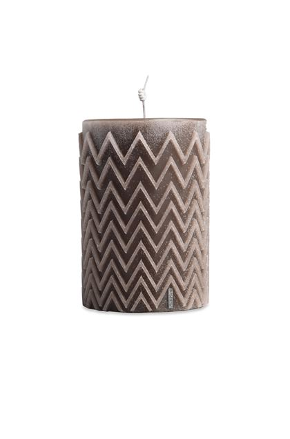 MISSONI HOME CHEVRON  CANDLE Khaki E - Back