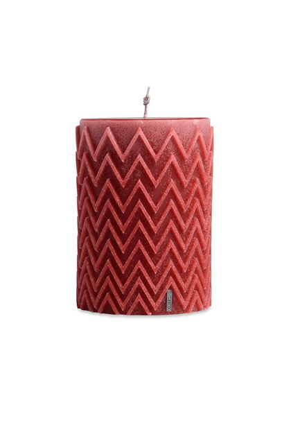 MISSONI HOME CHEVRON  CANDLE Red E - Back