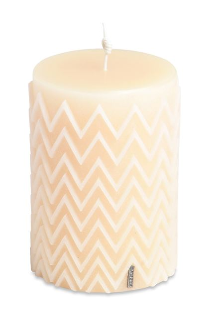 MISSONI HOME CHEVRON  CANDLE Ivory E - Front