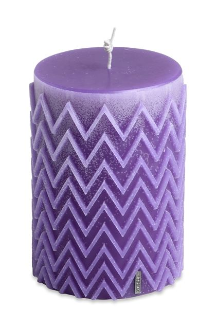 MISSONI HOME CHEVRON  CANDLE Purple E - Front