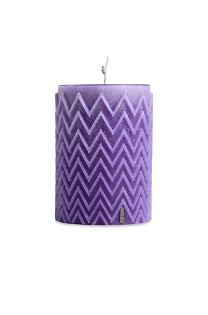 MISSONI HOME CHEVRON  CANDLE Purple E - Back