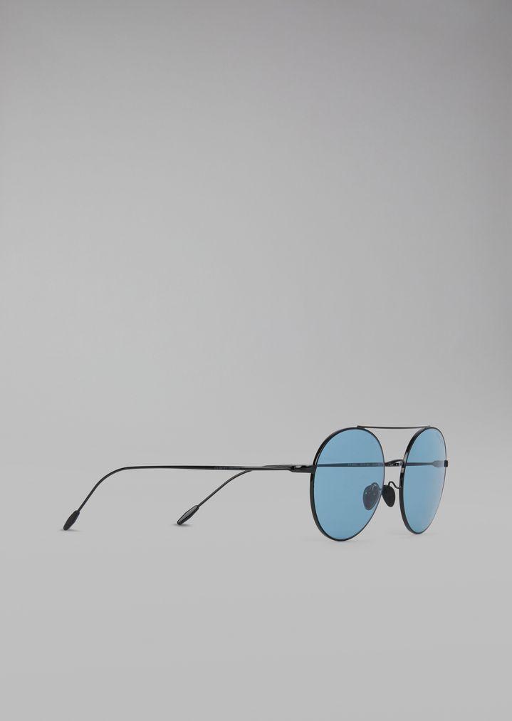cf36b4f2ca Lunettes de soleil à monture ronde en métal | Femme | Giorgio Armani