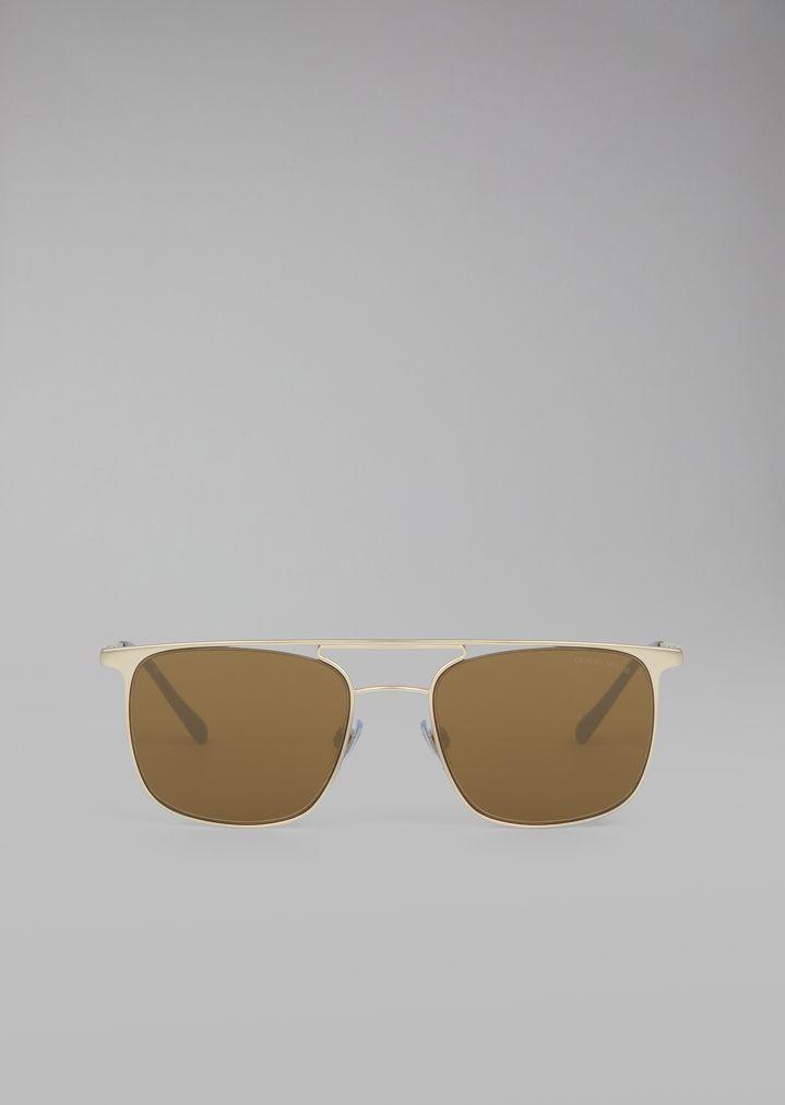 Gafas de sol con montura metálica redonda | Hombre | Giorgio Armani