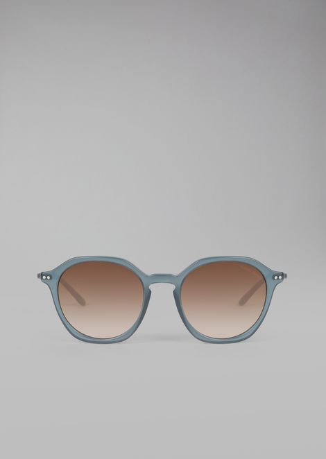 Brushed acetate sunglasses