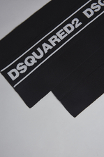DSQUARED2 Bronx Hip Hop Dsquared2 Tape Knit Scarf Scarf Woman