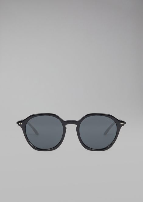 Sunglasses with patterned temples